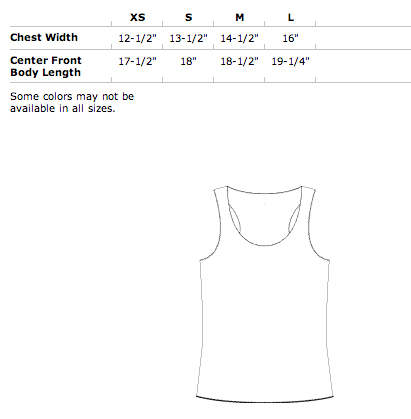 Girls Racer Back Tank Top Size
