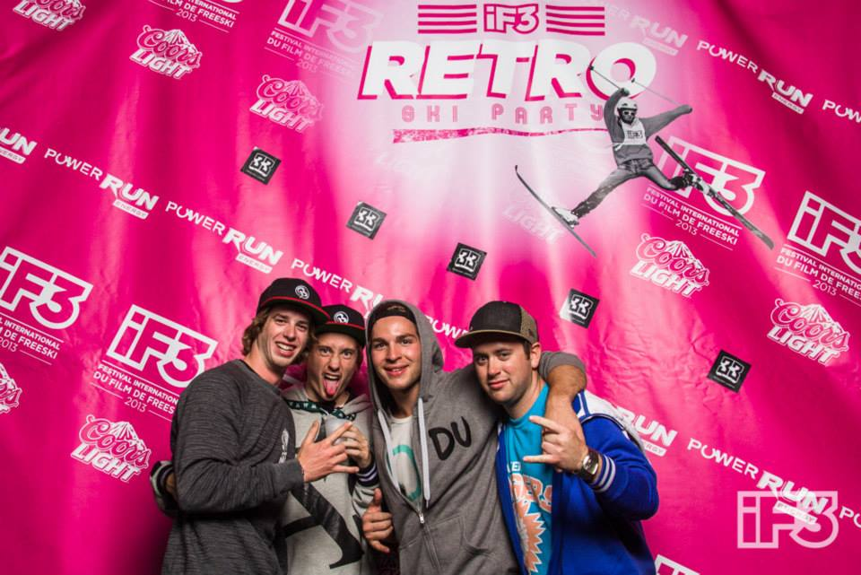Seb Eaves, Xavier Mayrand, Carlo Mion, Billy Labonte at the Retro Party!